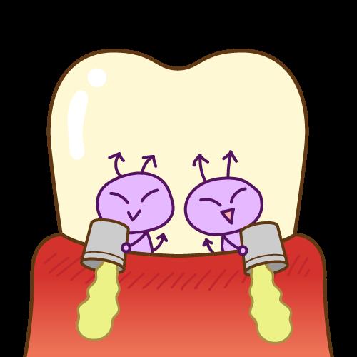 歯ぐきから膿が出ている原因とは?